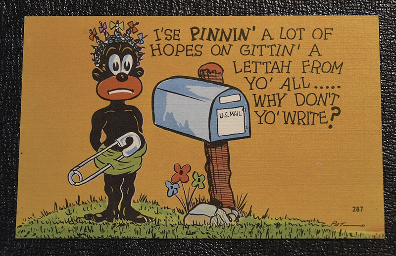 9 Racial Stereotype Caricature Postcards The Preitauer