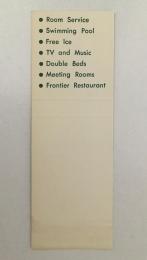 Lorraine Motel matchbook cover 2